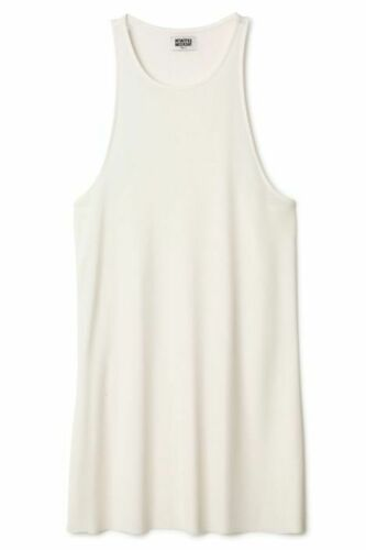 WEEKDAY Sheer Cream Silk Katja Singlet Tank Top SI