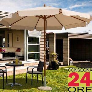 Ombrellone-da-giardino-TONDO-350cm-in-legno-naturale-telo-POLIESTERE-esterno