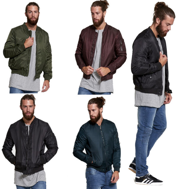 Mens Brave Soul Finnish Lightweight Longline MA1 Bomber Mac Jacket Trench Coat