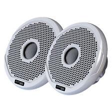 FUSION 6 Inch Round 2-Way IPX65 Marine Speaker - 200W - (Pair) White W/ Grills