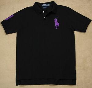 Pony S Ralph Mesh Black New Polo Purple Lauren Xxl Custom Details Fit About Shirt Big Men f6Yg7bvy