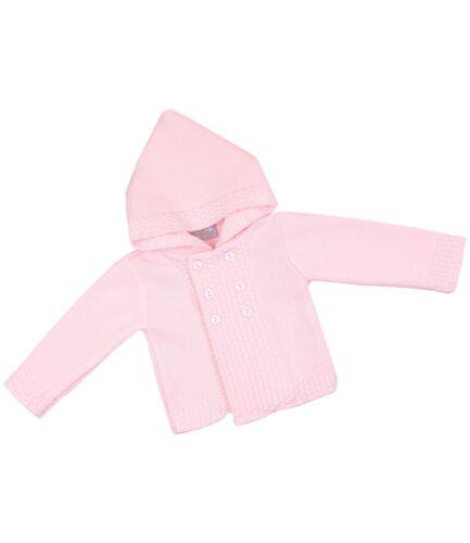BabyPrem Babykleidung StrickJäckchen Pullover Zweireiher Mit Kapuze 50-88 cm