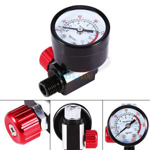 1-4-039-039-BSP-HVLP-Spray-Gun-Air-Regulator-Set-W-Pressure-Gauge-Diaphragm-Control