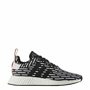 super popular 9d7ab b517f Details about Adidas NMD R2 PK Primeknit Black White Red BB2951
