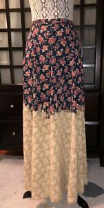 aed64d0f9 Urban Outfitters Urban Renewal Ombre Dip-Dyed Floral Maxi Skirt Size ...