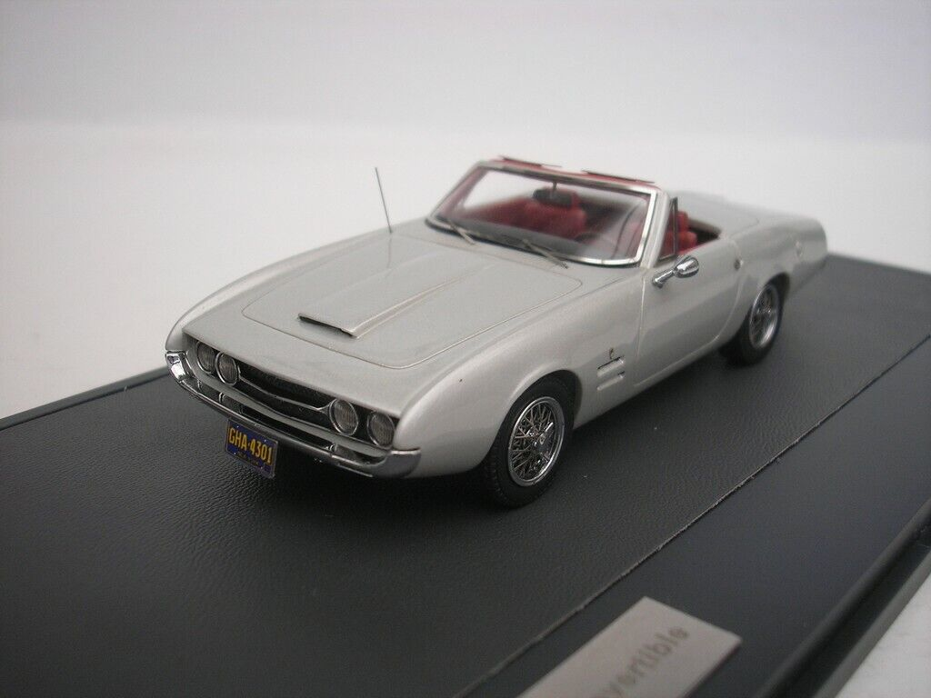 Ghia 450ss 450 SS cabriolet 1967 Argent Métallique 1 43 Matrix mx10701-031 NEUF
