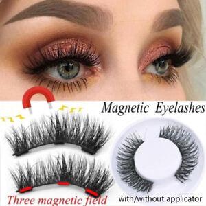 246febd7d75 SKONHED 4 Pcs Full Coverage Three Magnetic False Eyelashes Long ...