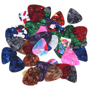 100pcs-Guitar-Picks-Acoustic-Electric-Plectrums-Celluloid-Assorted-Colors
