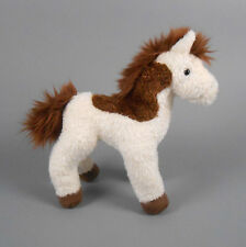 """New DOUGLAS TOY Plush Spotty Horse 9"""" Brown and White"""