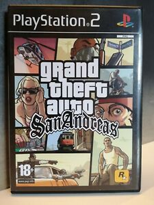PS2 GTA Grand theft auto San Andreas - Playstation game CIB + map