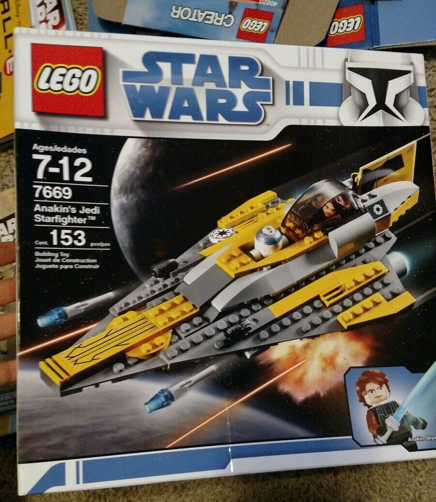 Lego Star Wars The Clone Wars Anakin's Jedi Starfighter  7669  NEW UNOPENED