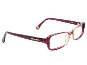 40b6fc0c889e Michael Kors Women's Eyeglasses MK221 609 Berry Rectangular Frame 51 ...