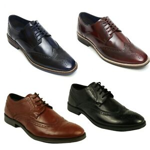 Lucini-Mens-Designer-Leather-Oxford-Lace-Up-Formal-Wedding-Shoes-Size-UK-6-to-12