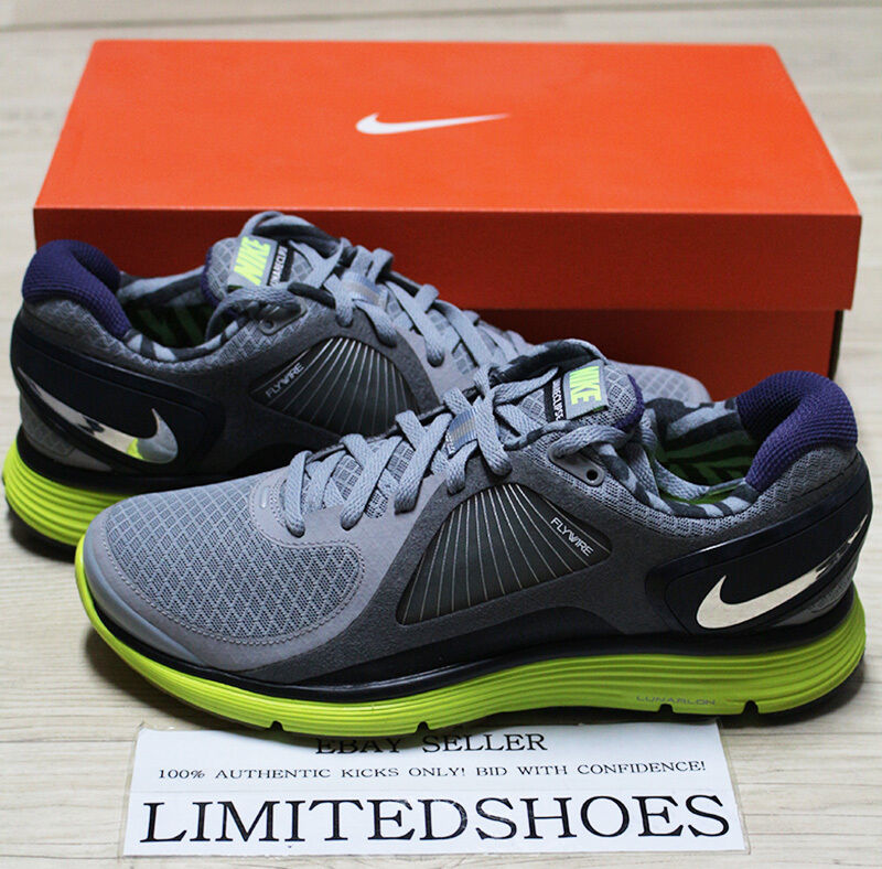 NIKE LUNARECLIPSE STEALTH CHOREM GREY VOLT BLACK 408582-001 US 8 green 2 3 4 5