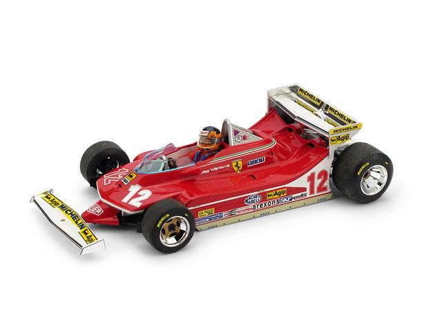FERRARI 312 t4 G. Villeneuve 1979  12 RETIrosso Monaco GP + driver 1:43 Model