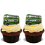 30x GREEN LONDON BUS Premium Edible Stand Up Rice Wafer Cup Cake Toppers D3 LINE