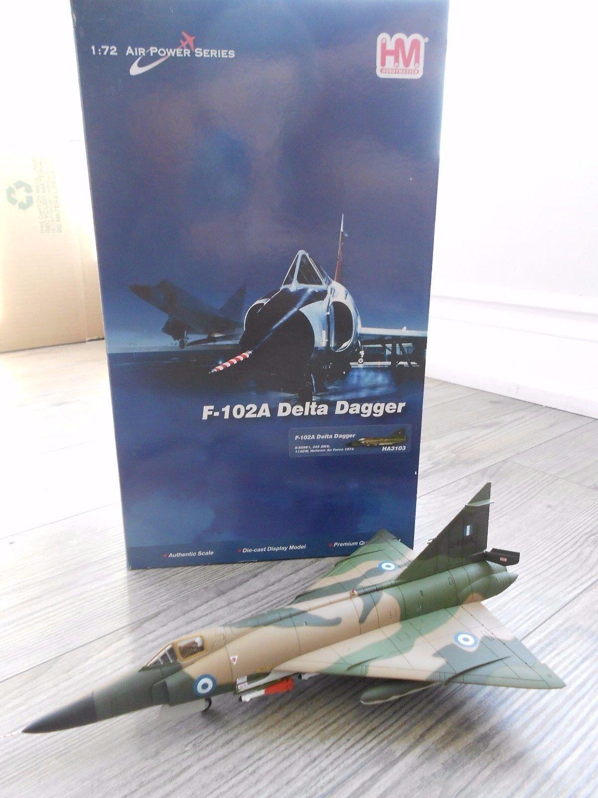 F-102A DELTA DAGGER  HELLENIC AF  HOBBYMASTER DIECAST 1 72
