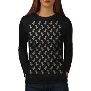 Wellcoda-Carino-dinosauro-giocattolo-da-Donna-Manica-Lunga-T-shirt-piu-design-casual