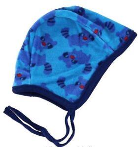 * Nouveau * Fixoni-bleu Raton Laveur Velours Casque/chapeau-taille 74/80-afficher Le Titre D'origine