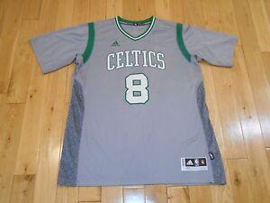 official photos c5fd1 58ee1 Details about adidas JEFF GREEN Gray Alternate BOSTON CELTICS Mens NBA Team  Swingman JERSEY XL