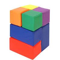 Clevr Big Foam Play Blocks, 7-piece Blocks Play Set Sensory Developmental Skills on sale