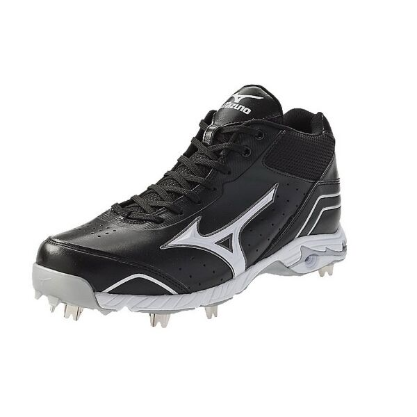 f239d2614cc Mizuno 9-spike Advanced Classic 7 Mid Metal Baseball Cleats US Sz 12 Black  White for sale online