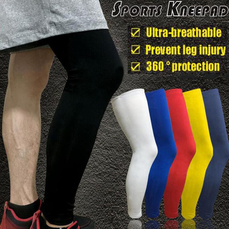 1X Knee Sleeve Basketball Long Leg Pads Grace Support Protector Gear Crashproof