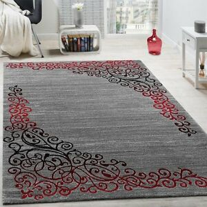 modern red living rugs area furniture black uk a for shaggy decorations home carving fashion cute room