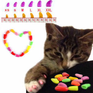 Image is loading 20pcs-Soft-Cat-Nail-Caps-Pet-Dog-Claw-