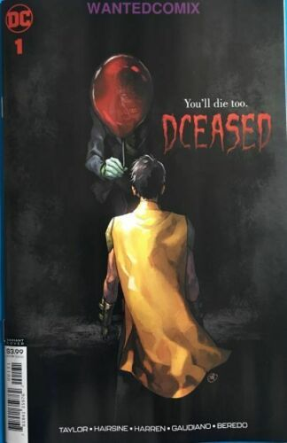 PUTRI HORROR VARIANT COVER STEPHEN KING IT PENNYWISE COMIC BOOK DCEASED 1 OF 6