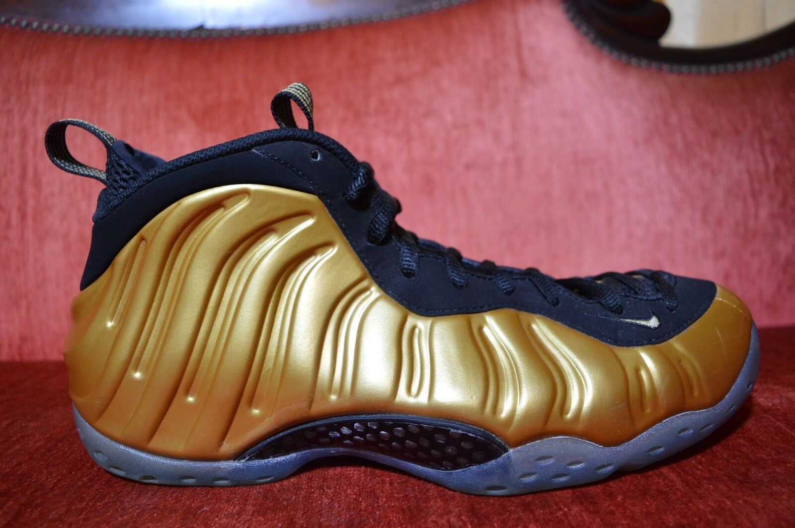 on sale fd861 f1023 reduced nike foamposite one gold yellow b5a2b a8282