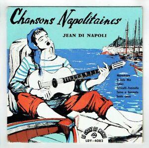 Jean-DI-NAPOLI-Disque-33T-17-cm-CHANSONS-NAPOLITAINES-CHANT-DU-MONDE-4082-RARE