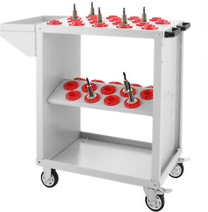 For your utility cart CNC BT40 tool holder stand Cat40 White holds 6 tool