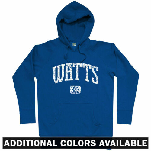 Watts 323 Hoodie CA California LA Los Angeles Towers Neighborhood Men S-3XL