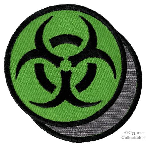 BIOHAZARD SYMBOL embroidered PATCH CAMO GREEN emblem w// VELCRO® Brand Fastener