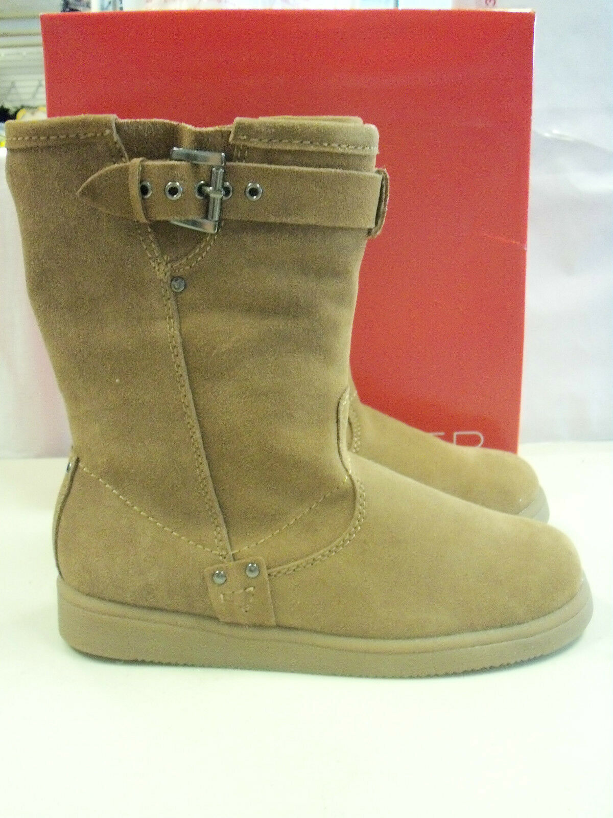 Marc Fisher New New New Womens Fearra Light Brown Suede Boots 7 M shoes b56086