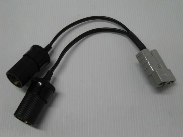 Double Cigarette Socket Lead With 50 Amp Anderson Plug Engel Car Fridge  Caravan