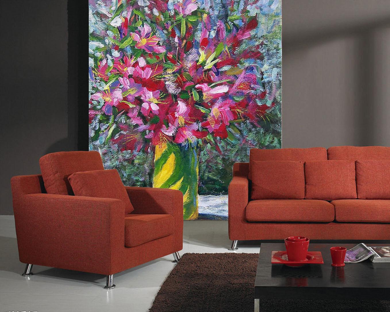 3D Gouache Flowers 83 Wall Paper Murals Wall Print Wall Wallpaper Mural AU Kyra