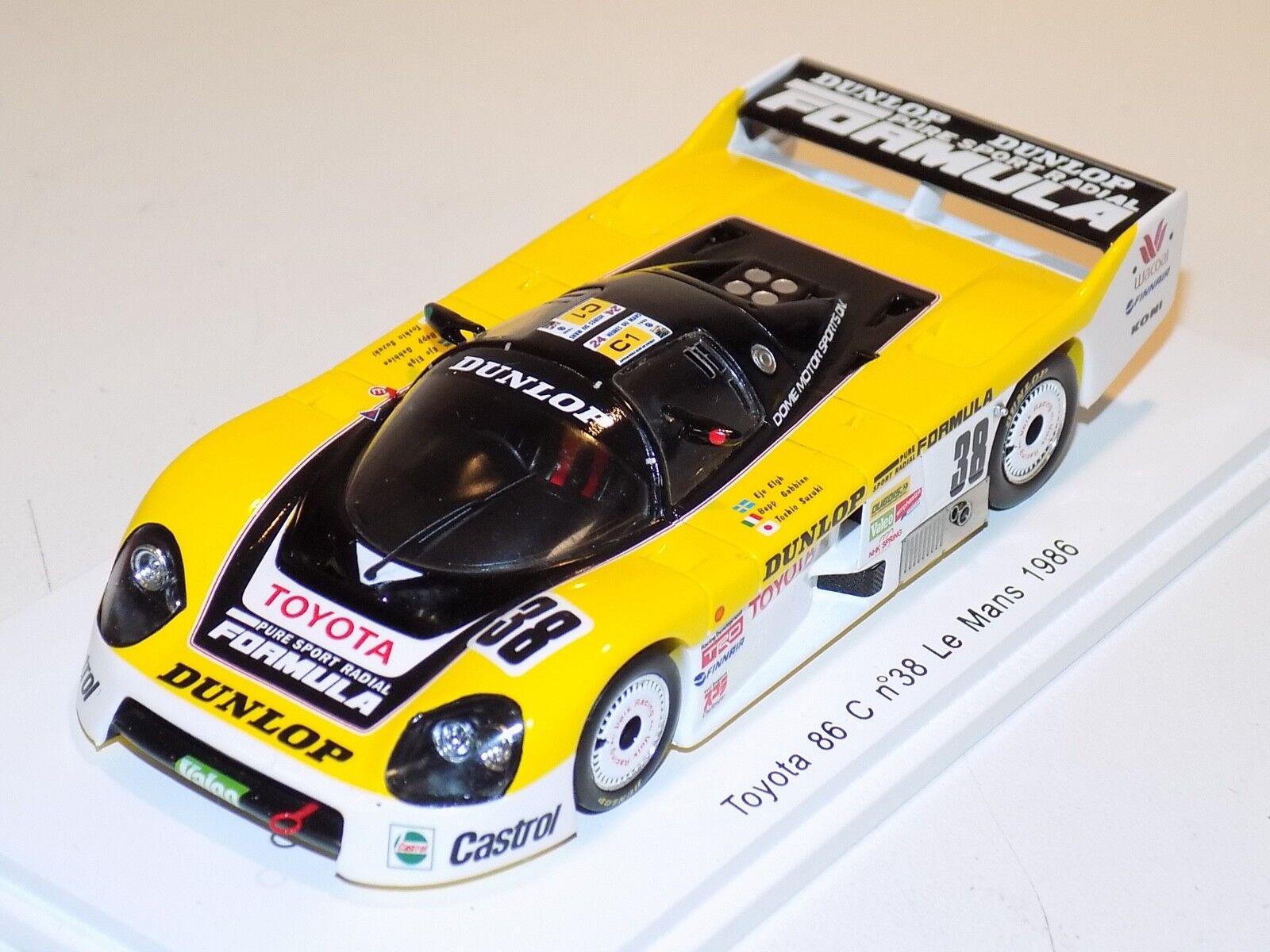 1 43 Spark Toyota 86 C Coche No.38 1986 24 H de Le Mans S2353