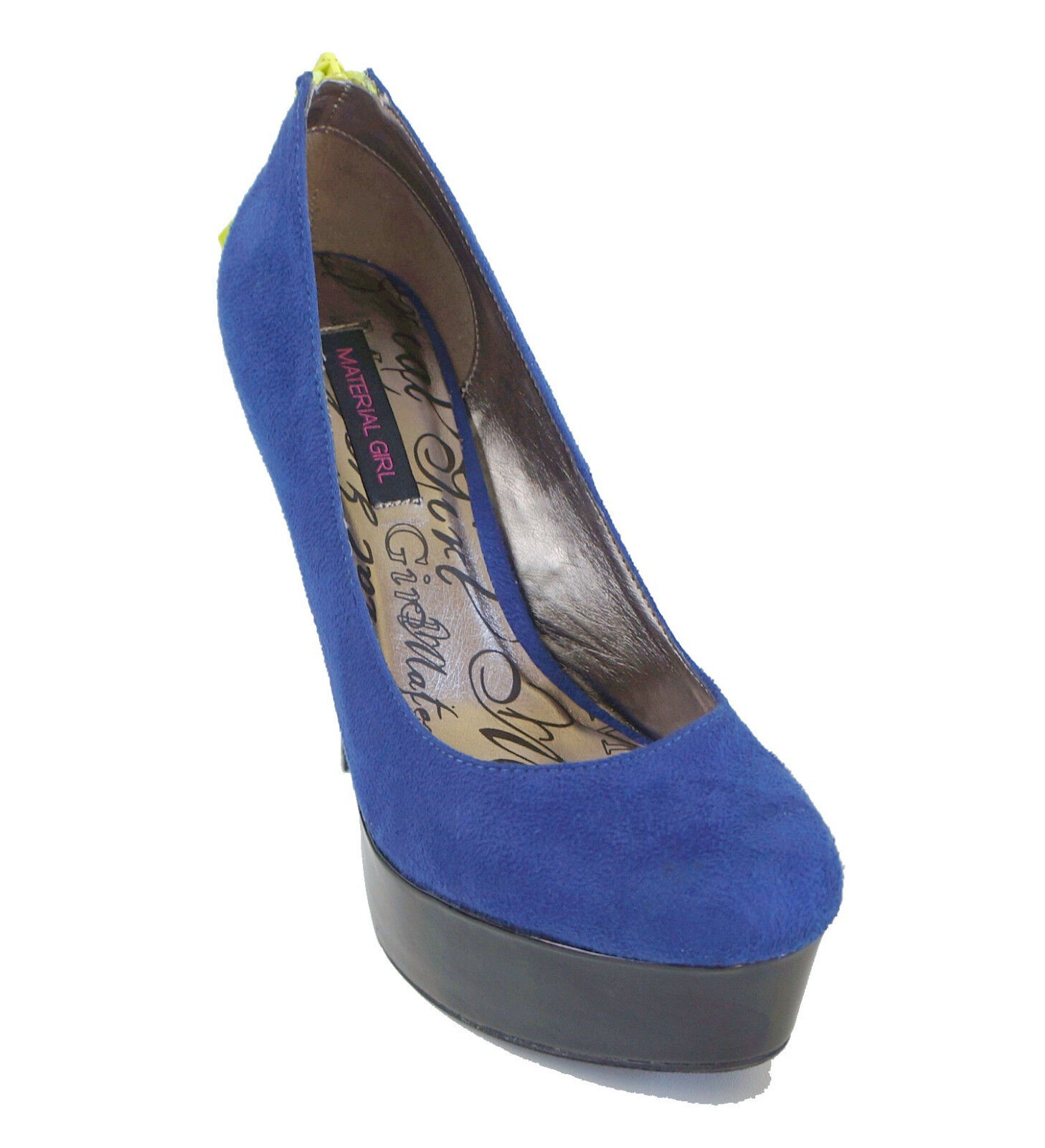 New! Material Platform Girl Blue Faux Suede Platform Material Pumps MARCEL Women's Shoes 9 f42144