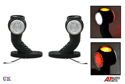 2 X 12//24 Volt Recovery Seiten Marker Eoutline Led-Lampen Lampe Anhänger Lkw
