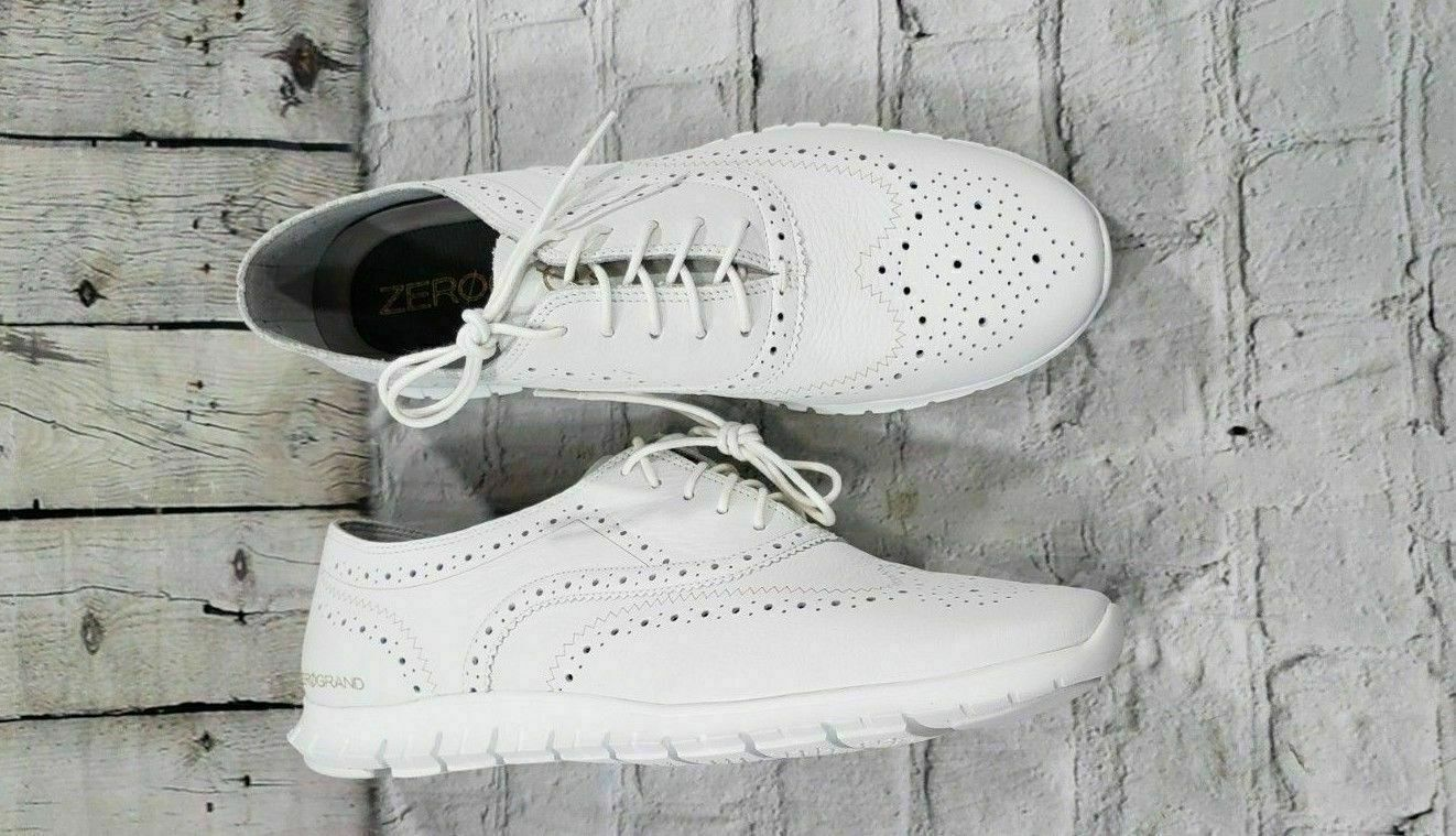 NEW Cole Haan Zerogrand Wing Ox White Oxfords Dress shoes Womens Size 11