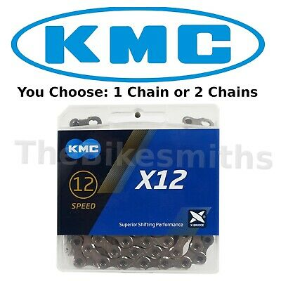 KMC X12 12 Speed Ti MTB Chain 126 Links Silver Black Gold fit SRAM-1 or 2 Packs