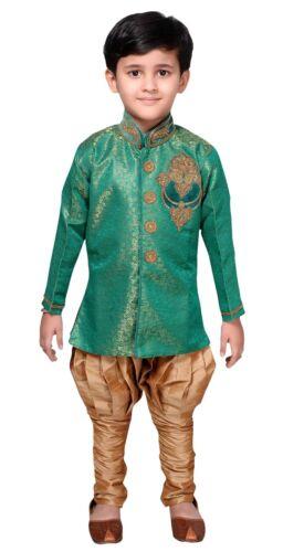 Garçons Indo WESTERN TRADITIONAL Sherwani Kurta Pyjama Bollywood Party EB 951