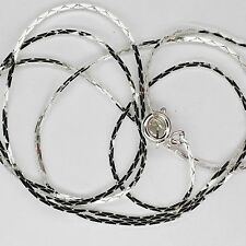 "24"" Cobra Chain Necklace Silver Plated Spring Ring Clasp"