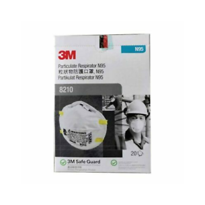 3M 8210 N95 Box of 20 Particulate Respirator Masks with 4 Boxes of 3 Ply Masks