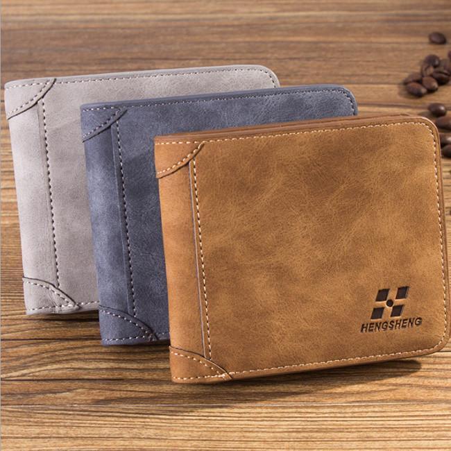 Mens Wallet Purse ID credit Card Holder Thin Clutch Bifold Coin Pockets N3