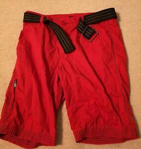 Guess Belt Red Pantaloncini Tasche 30 RZUxpCqw