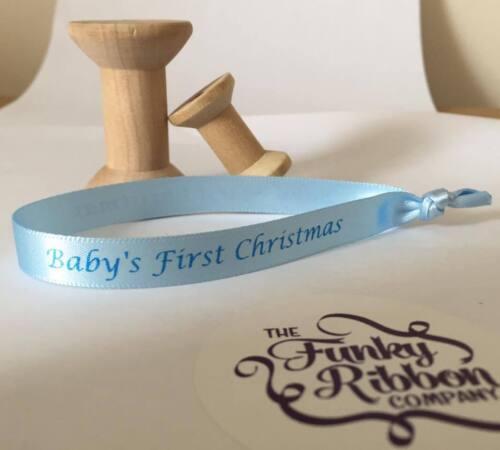 10 X BAUBLE Cintas-Babys Primero Navidad