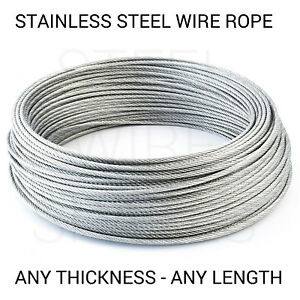 Stainless Steel Wire Rope Cable 1mm 2mm 3mm 4mm 5mm FREE DELIVERY   eBay